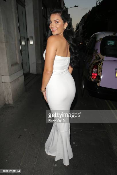 Alexandra Cane attends an official dinner announcing her as a new brand ambassador of BoohooMan on September 24 2018 in London England