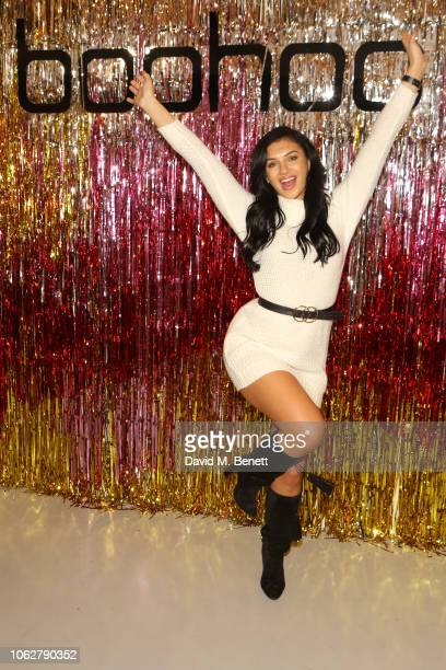 Alexandra Cane attends the Boohoo at Curve Fashion Festival stand on November 17 2018 in Liverpool England