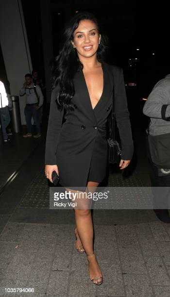 Alexandra Cane seen attending boohooMAN VIP dinner at The Shard on September 18 2018 in London England