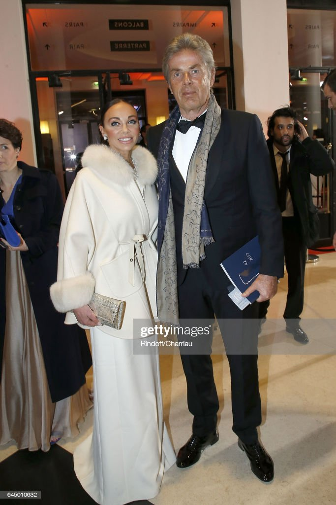 Alexandra Cardinale and Dominique Desseigne attend Cesar Film Award 2017 at Salle Pleyel on February 24, 2017 in Paris, France.