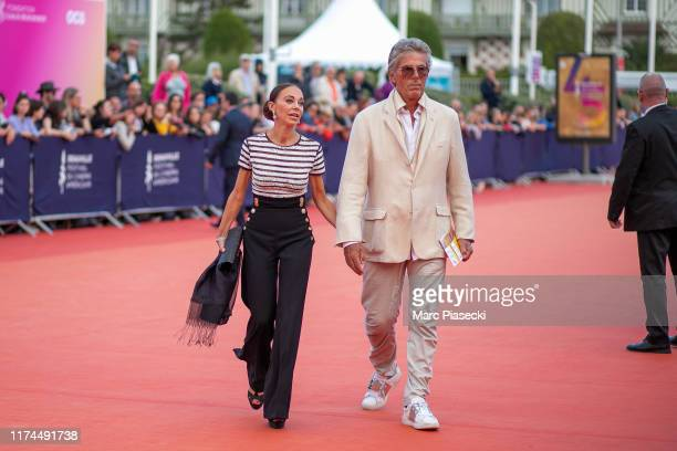 Alexandra Cardinale and Dominique Desseigne attend the Tribute to Kristen Stewart during the 45th Deauville American Film Festival on September 13...