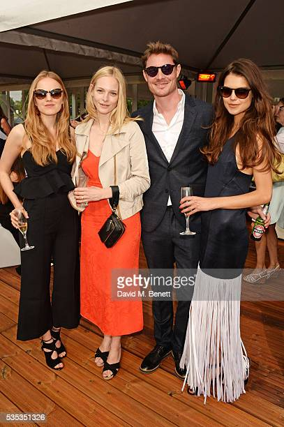 Alexandra Carl Annabelle Horsey Max Brown and Sarah Ann Macklin attend day two of the Audi Polo Challenge at Coworth Park on May 29 2016 in London...