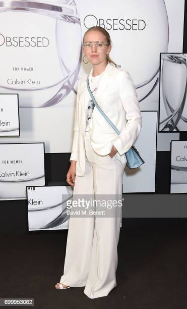 Alexandra Carl attends the Kate Moss Mario Sorrenti launch of the OBSESSED Calvin Klein fragrance launch at Spencer House on June 22 2017 in London...