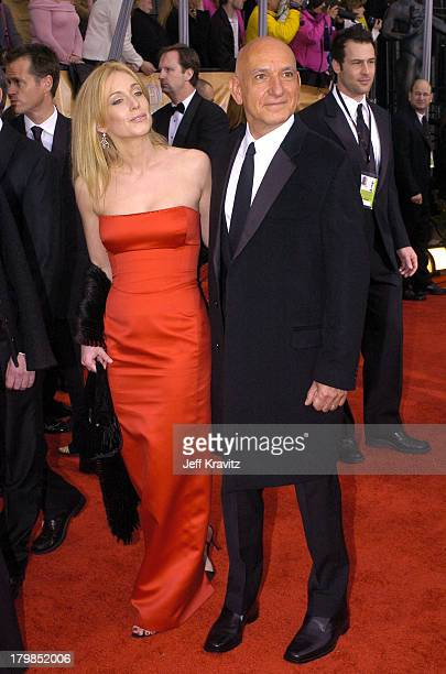 Alexandra Christmann and Ben Kingsley during The 10th Annual Screen Actors Guild Awards Arrivals at The Shrine Auditorium in Los Angeles California...