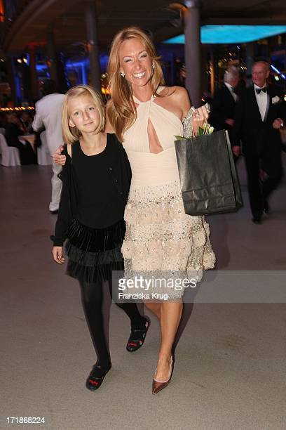 Alexandra Christmann with daughter Lois at the 90th birthday of Artur Brauner In Berlin On 130908