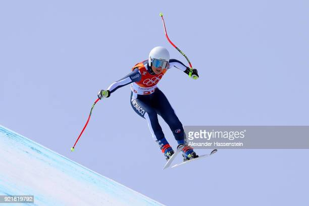 e94786f35c67 Alexandra Coletti of Monaco competes during the Ladies  Downhill on day 12  of the PyeongChang