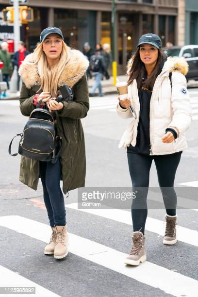 Alexandra Cooper and Sofia Franklyn are seen in the Flatiron District on January 29 2019 in New York City