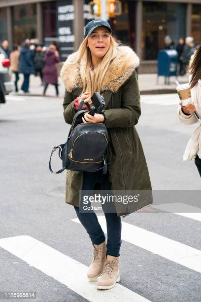 Alexandra Cooper is seen in the Flatiron District on January 29 2019 in New York City