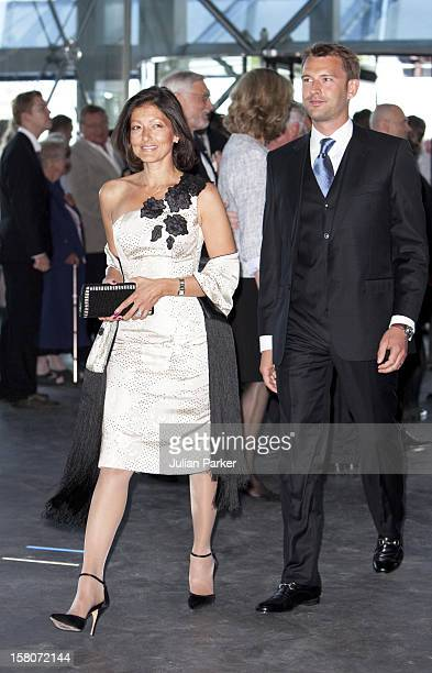 Alexandra Countess Of Frederiksborg And Husband Martin Jorgensen Attend A Reception And Concert At Copenhagens Concert Hall As Part Of The 75Th...