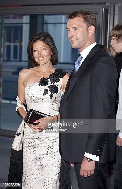 Alexandra Countess Of Frederiksborg And Husband Martin Jorgensen Attends A Reception And Concert At Copenhagens Concert Hall As Part Of The 75Th...