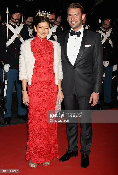 Alexandra Countess of Frederiksborg arrives for a Gala Performance at the DR Concert Hall to celebrate Queen Margrethe II of Denmark's 40 years on...