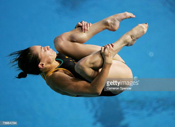 Alexandra Croak of Australia competes in the Women's 1m Springboard preliminary event during the XII FINA World Championships at the Melbourne Sports...