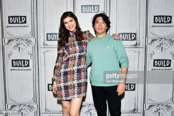 Alexandra Daddario and Jon Bass visit the Build Series to discuss the new movie Baywatch at Build Studio on May 24 2017 in New York City