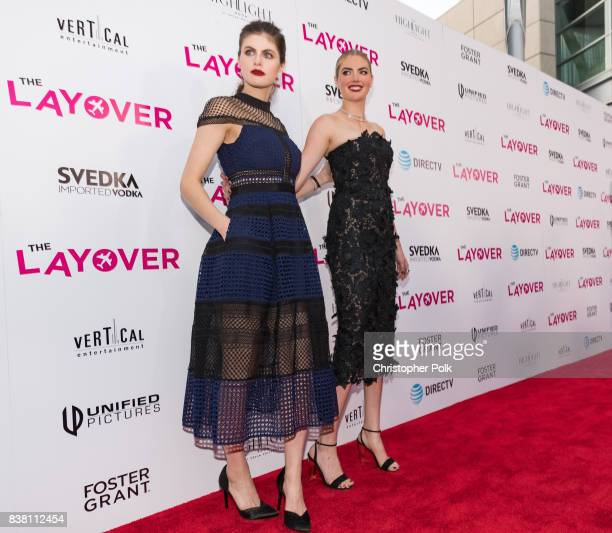 Alexandra Daddario and Kate Upton arrive to the Premiere Of DIRECTV And Vertical Entertainment's The Layover at the ArcLight Hollywood on August 23...