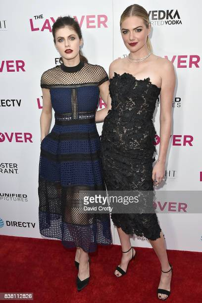Alexandra Daddario and Kate Upton attend the Premiere Of DIRECTV And Vertical Entertainment's 'The Layover' Arrivals at ArcLight Cinemas on August 23...