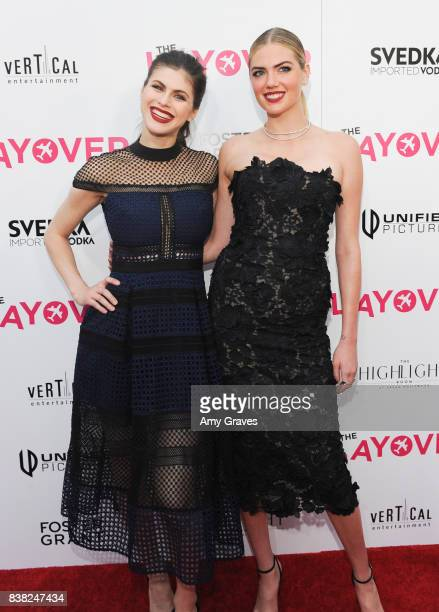 Alexandra Daddario and Kate Upton attends The Layover film premiere hosted by Vertical Entertainment DIRECTV Foster Grant and SVEDKA on August 23...