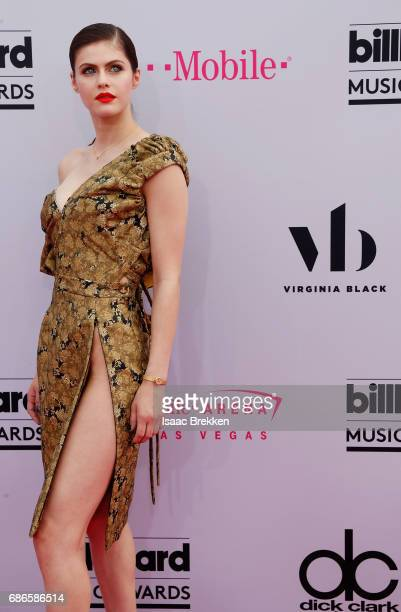 Alexandra Daddario arrives at the 2017 Billboard Music Awards presented by Virginia Black at TMobile Arena on May 21 2017 in Las Vegas Nevada