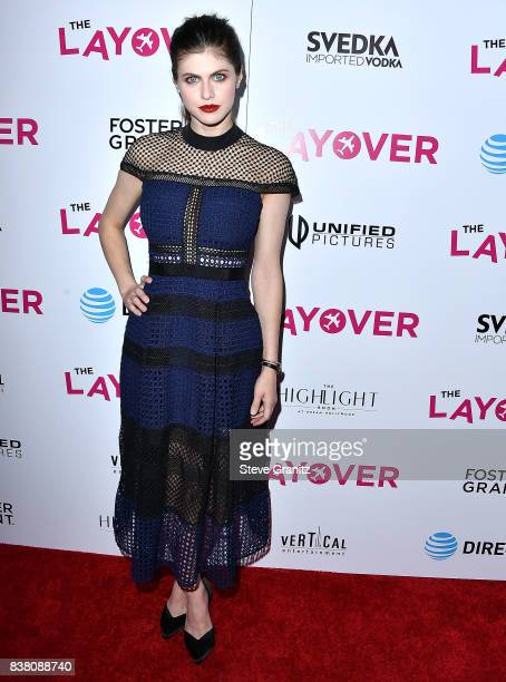 Alexandra Daddario arrives at the Premiere Of DIRECTV And Vertical Entertainment's 'The Layover' at ArcLight Hollywood on August 23 2017 in Hollywood...