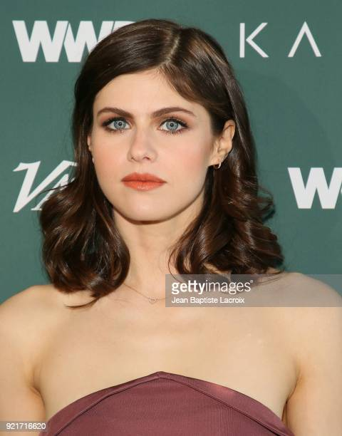 Alexandra Daddario arrives to the Council of Fashion Designers of America luncheon held at Chateau Marmont on February 20 2018 in Los Angeles...