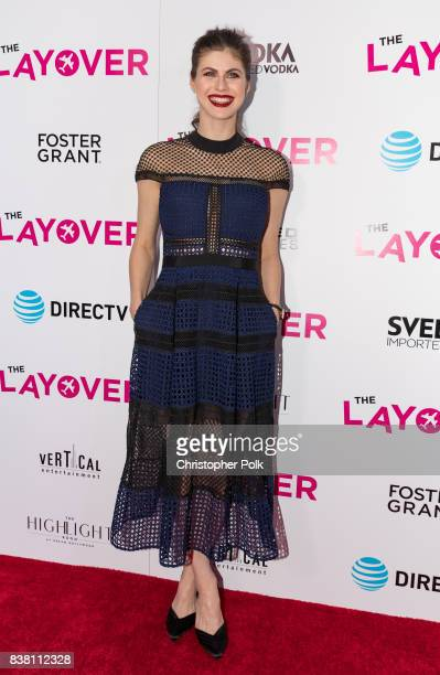 Alexandra Daddario arrives to the Premiere Of DIRECTV And Vertical Entertainment's 'The Layover' at the ArcLight Hollywood on August 23 2017 in...