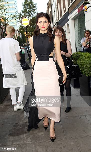 Alexandra Daddario at BamBou restaurant on May 21 2015 in London England