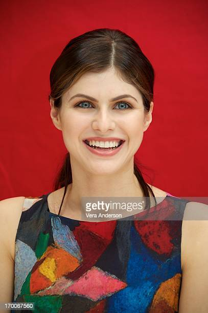 "Alexandra Daddario at the ""Percy Jackson: Sea Of Monsters"" Press Conference at the Four Seasons Hotel on June 4, 2013 in Beverly Hills, California."