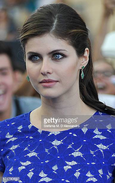 Alexandra Daddario attends 2013 Giffoni Film Festival bllue carpet on July 23 2013 in Giffoni Valle Piana Italy