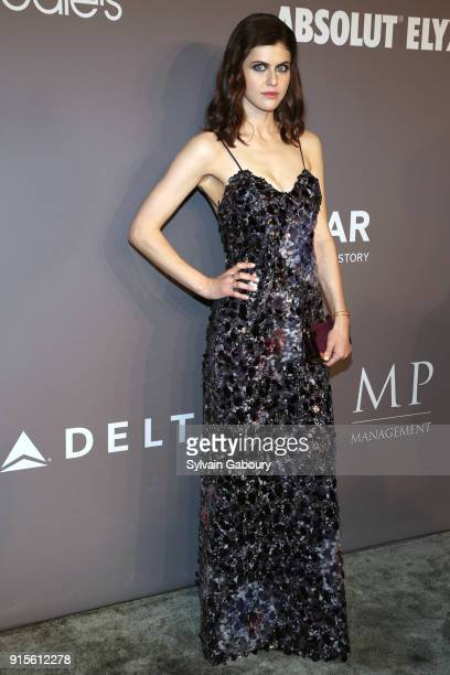 Alexandra Daddario attends 2018 amfAR Gala New York Arrivals at Cipriani Wall Street on February 7 2018 in New York City