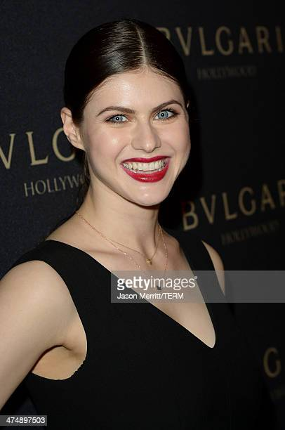 "Alexandra Daddario attends ""Decades of Glamour"" presented by BVLGARI on February 25, 2014 in West Hollywood, California."