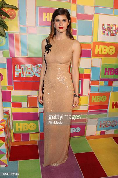 Alexandra Daddario attends HBO's Official 2014 Emmy After Party at The Plaza at the Pacific Design Center on August 25 2014 in Los Angeles California