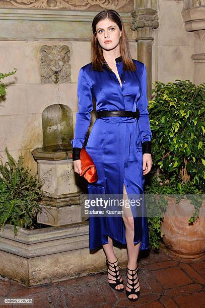Alexandra Daddario attends Lisa Love Hosts Dinner For Jonathan Saunders New Chief Creative Officer Of Diane Von Furstenberg at Chateau Marmont on...