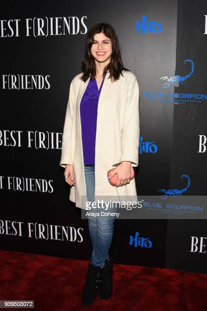 Alexandra Daddario attends the Best Fiends Los Angeles Premiere at the Egyptian Theatre on March 28 2018 in Hollywood California