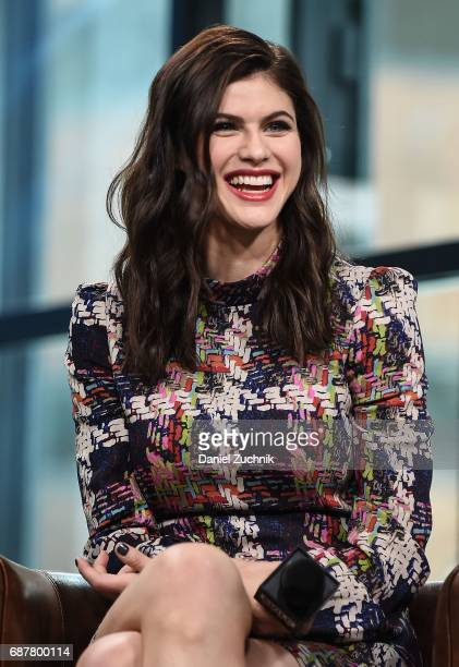 Alexandra Daddario attends the Build Series to discuss the new film 'Baywatch' at Build Studio on May 24 2017 in New York City