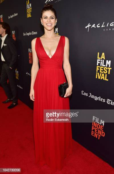 "Alexandra Daddario attends the Closing Night Screening of ""Nomis"" during the 2018 LA Film Festival at ArcLight Cinerama Dome on September 28, 2018 in..."