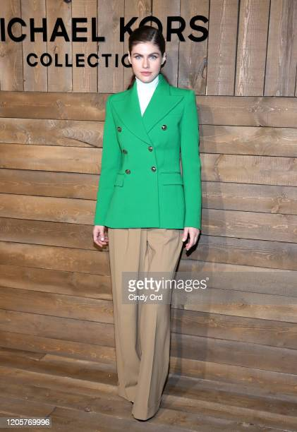 Alexandra Daddario attends the Michael Kors FW20 Runway Show during New York Fashion Week on February 12 2020 in New York City