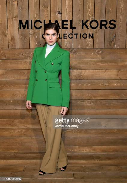 Alexandra Daddario attends the Michael Kors FW20 Runway Show on February 12, 2020 in New York City.