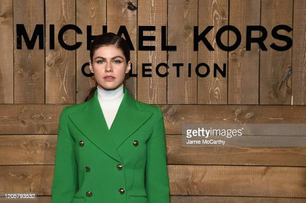 Alexandra Daddario attends the Michael Kors FW20 Runway Show on February 12 2020 in New York City