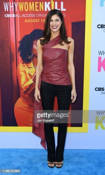 "Alexandra Daddario attends the LA Premiere Of CBS All Access' ""Why Women Kill"" at Wallis Annenberg Center for the Performing Arts on August 07, 2019..."