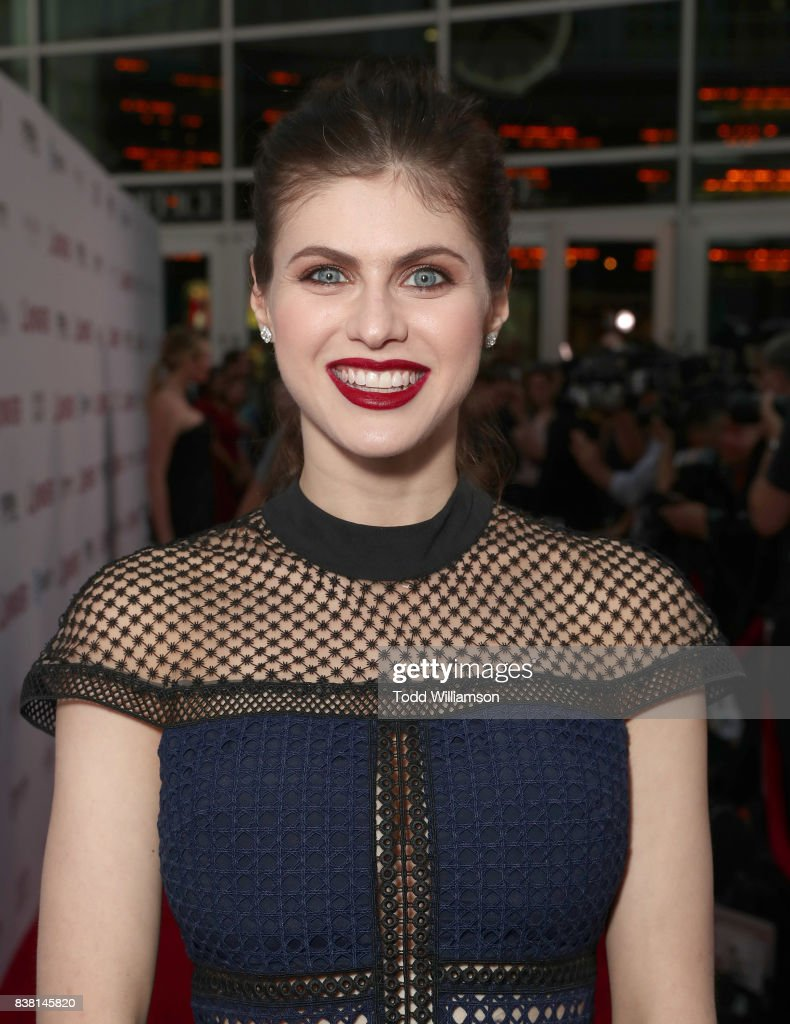 Alexandra Daddario attends the premiere of DIRECTV And Vertical Entertainment's 'The Layover' at ArcLight Hollywood on August 23, 2017 in Hollywood, California.