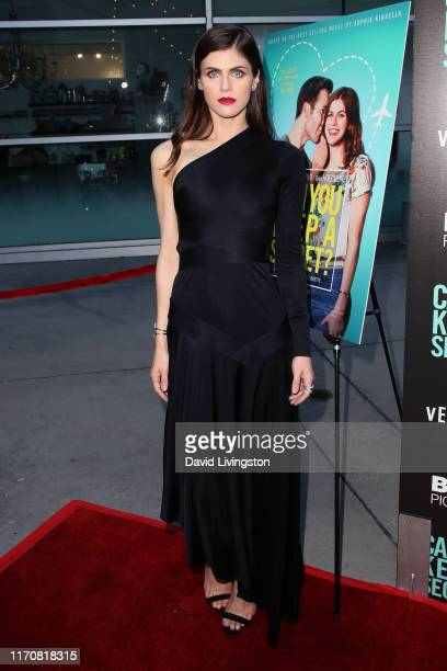 "Alexandra Daddario attends the premiere of Vertical Entertainment's ""Can You Keep A Secret?"" at ArcLight Hollywood on August 28, 2019 in Hollywood,..."