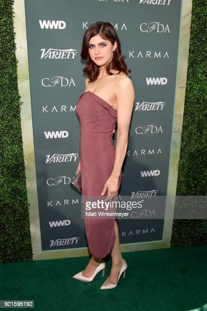 Alexandra Daddario attends the Runway To Red Carpet hosted by Council of Fashion Designers of America Variety and WWD at Chateau Marmont on February...