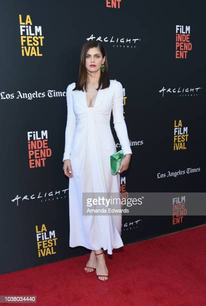 "Alexandra Daddario attends the screening of ""We Have Always Lived in the Castle"" during the 2018 LA Film Festival at ArcLight Culver City on..."