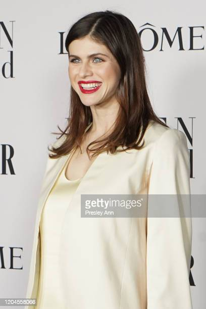 Alexandra Daddario attends the Vanity Fair and Lancôme Women in Hollywood celebration at Soho House on February 06 2020 in West Hollywood California