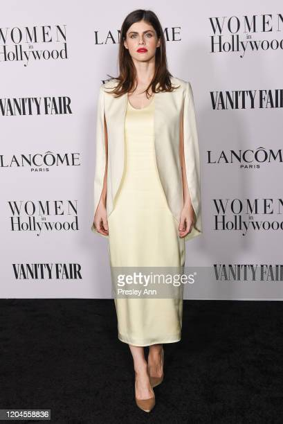 Alexandra Daddario attends the Vanity Fair and Lancôme Women in Hollywood celebration at Soho House on February 06, 2020 in West Hollywood,...