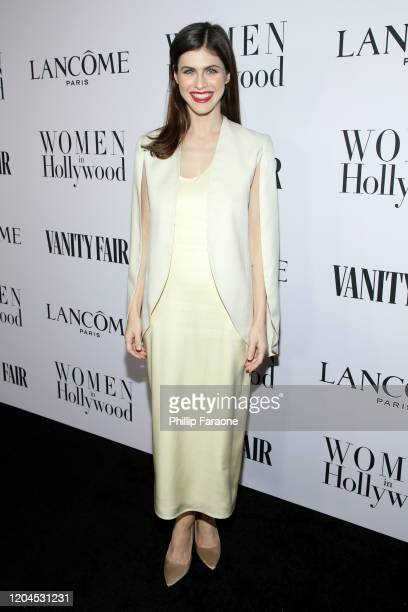 Alexandra Daddario attends Vanity Fair and Lancôme Toast Women in Hollywood on February 06 2020 in Los Angeles California