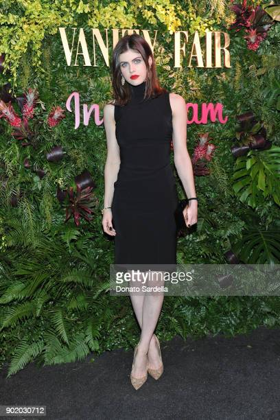Alexandra Daddario attends Vanity Fair x Instagram Celebrate the New Class of Entertainers at Mel's Diner on Golden Globes Weekend at Mel's Diner on...
