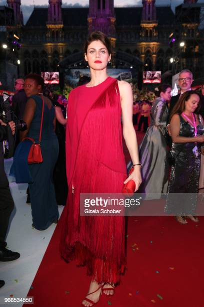 Alexandra Daddario during the Life Ball 2018 at City Hall on June 2 2018 in Vienna Austria The Life Ball an annual charity event raising funds for...