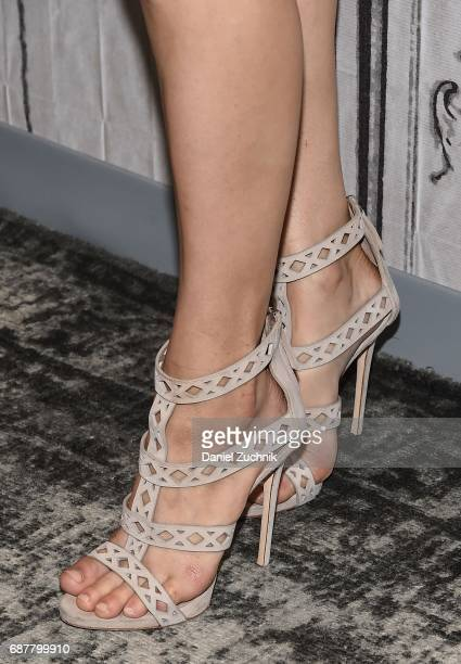 Alexandra Daddario heels detail attends the Build Series to discuss the new film 'Baywatch' at Build Studio on May 24 2017 in New York City