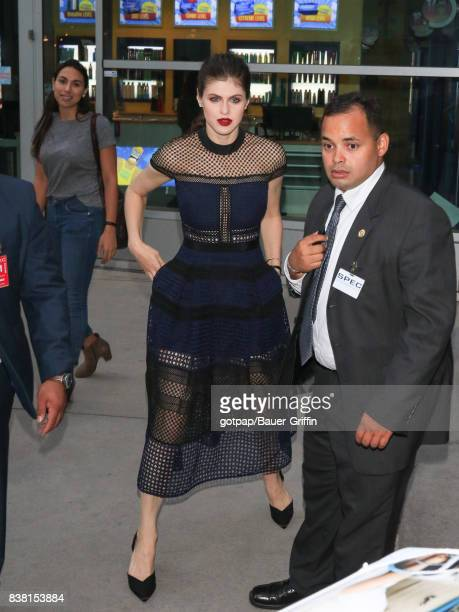Alexandra Daddario is seen on August 23 2017 in Los Angeles California
