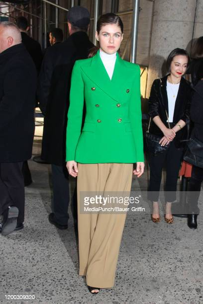 Alexandra Daddario is seen on February 12 2020 in New York City